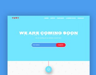 Tust – Coming Soon Template