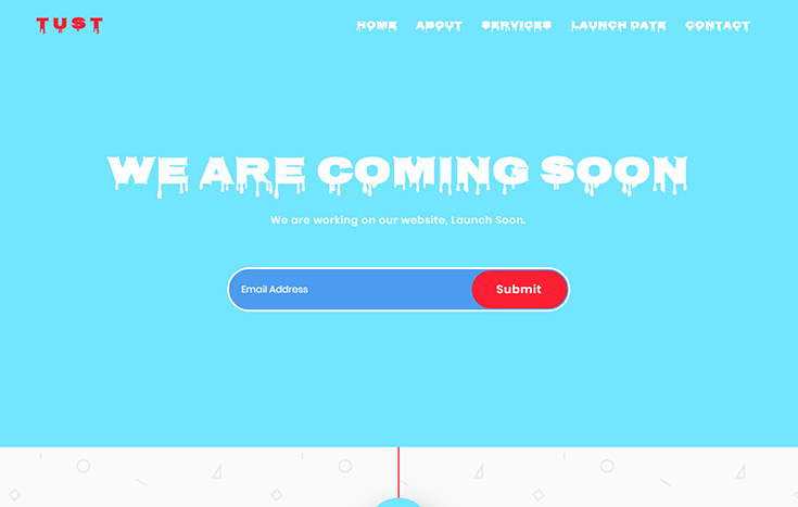 Tust coming soon bootstrap template