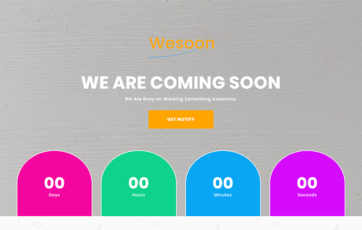 Wesoon coming soon bootstrap template