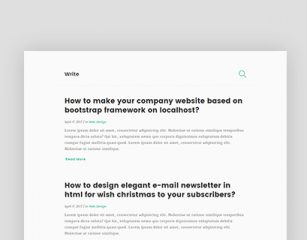 Write – Simple Blog Template