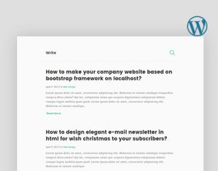 Write – Blogging WordPress Theme