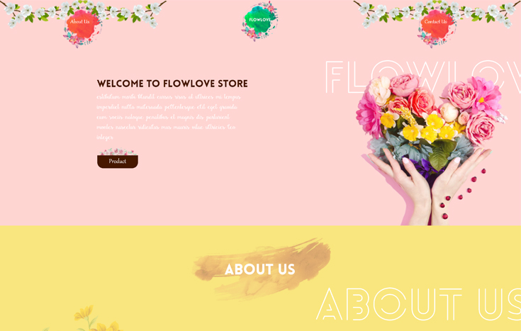Flowlove Flower Store Responsive Bootstrap Template